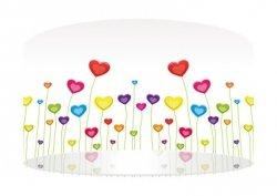 Macodesign, lampa wisząca, łąka serc