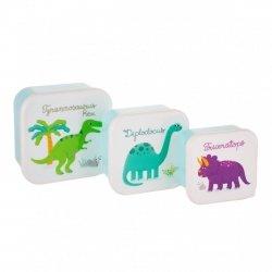 Sasandbell, zestaw 3 lunch boxów, dinozaury