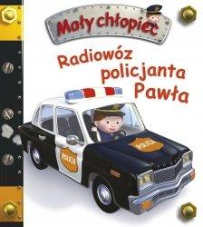 Książeczka, radiowóz policjanta Pawła