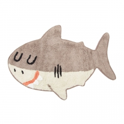 sassandbell, bawełniany dywanik, rekin