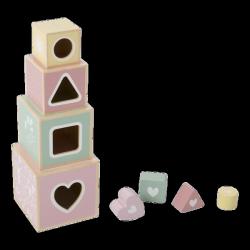 Little Dutch, drewniany sorter, wieża różowa