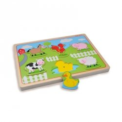 Indigo Jamm, drewniane puzzle dźwiękowe, zwierzęta na farmie