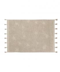 Lorena Canals, dywan bawełniany, hippy stars, natural, 120 x 175cm