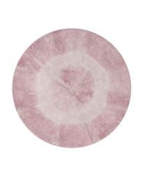 Lorena Canals, dywan bawełniany, tie-dye, vintage nude, 150 cm