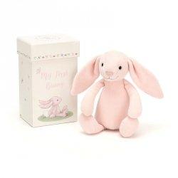 jellycat, mój pierwszy króliczek, różowy, 19cm