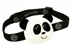 Geo kids, latarka czołowa, panda