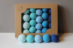 cotton balls blue