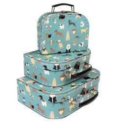 Rex London, zestaw 3 walizeczek, pieski Best in show