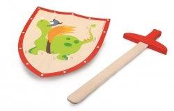 Scratch,  tarcza i miecz, zielony smok