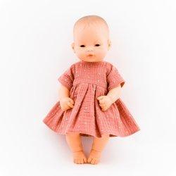 Sukienka z muślinu,  morelowa, 32cm
