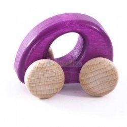 Bajo, drewniane autko, fioletowe,