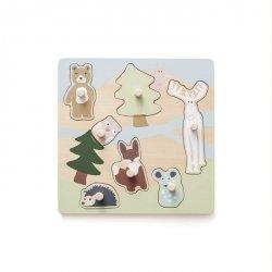 Kids Concept, drewniane puzzle, Edvin