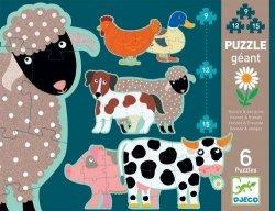 Djeco, puzzle kartonowe gigant, Honore i przyjaciele