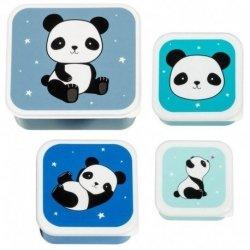 ALLC, komplet 4 lunch boxów, panda