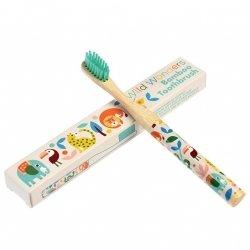 Rex, bambusowa szczoteczka do zębów dla dzieci, zwierzątka