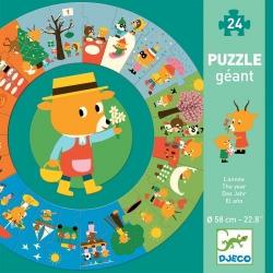 Djeco, kartonowe puzzle edukacyjne, pory roku