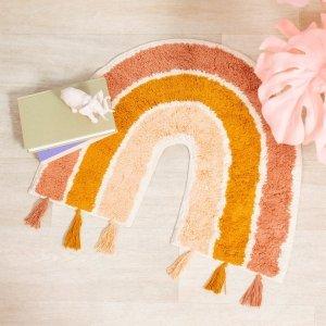 Sassandbelle, bawełniany dywanik, tęcza