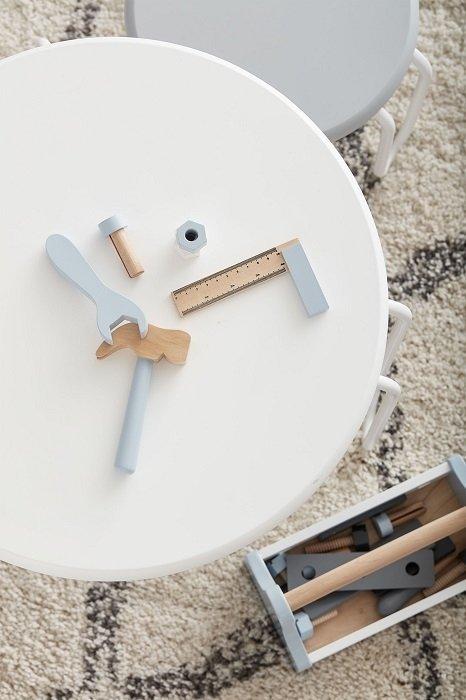 Kids concept, drewniana skrzynka z narzędziami,
