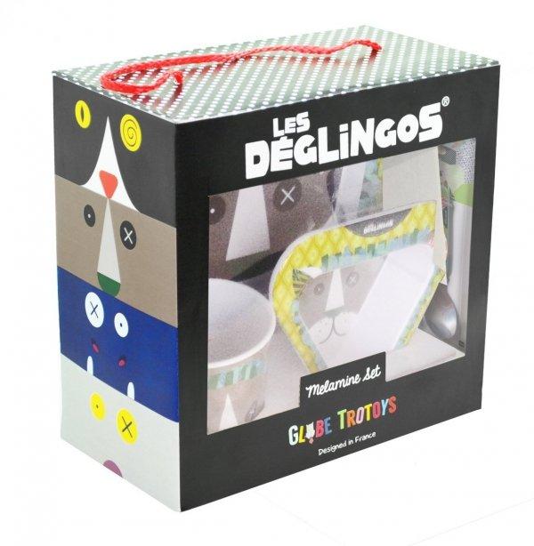 Les Deglingos, zestaw naczyń z melaminy, Lion