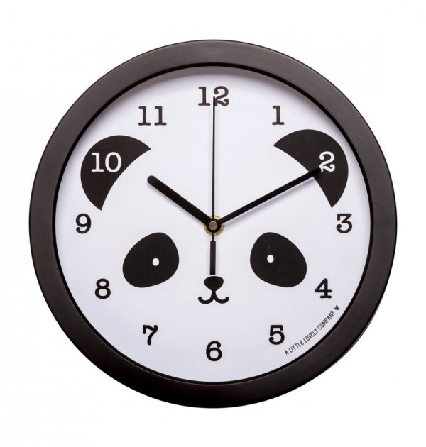A Little Lovely Company, cichy zegar na ścianę, panda