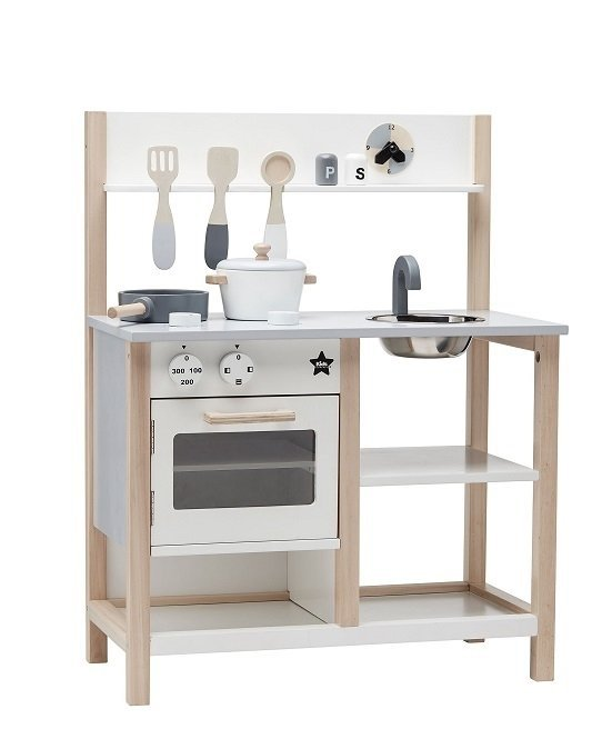 Kids Concept, kuchenka drewniana, biała