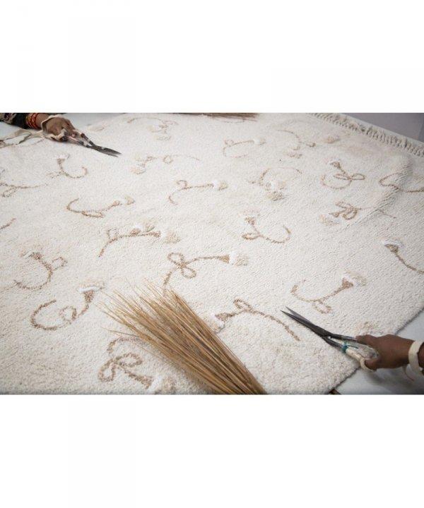 Lorena Canals, dywan bawełniany, english garden ivory , 120x170cm