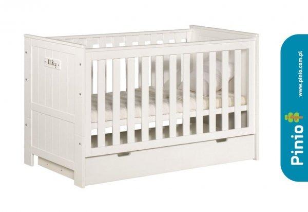 Pinio, szuflada drewniana, Blanco, pod łóżeczko 140x70cm