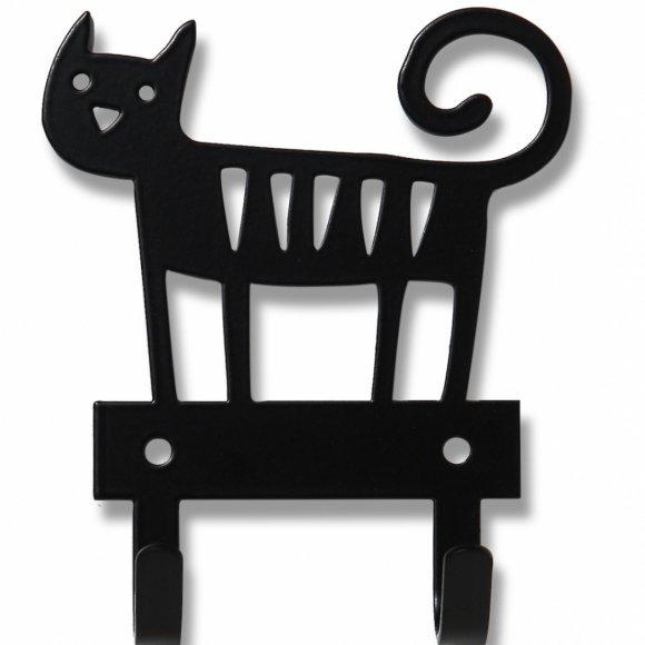 Klippan, wieszak metalowy, kotek, czarny