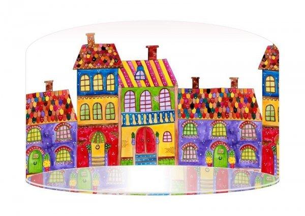 Macodesign, lampa wisząca, kolorowe domki