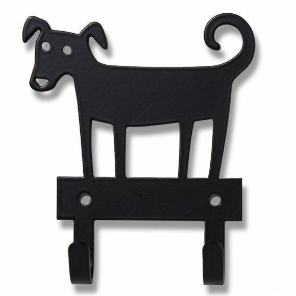 Klippan, wieszak metalowy, pies, czarny