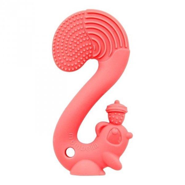 Mombella, gryzak silikonowy, wiewiórka, różowy