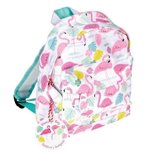 Rex, mały plecaczek, flamingi