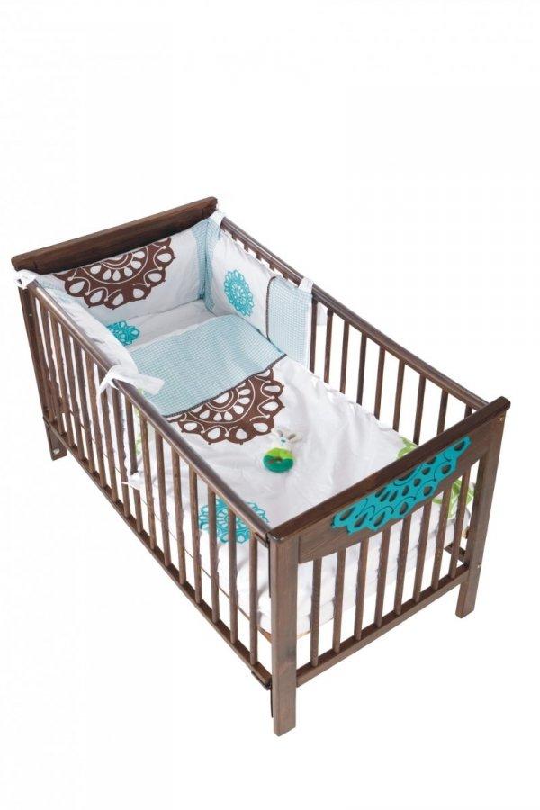 malooni, Koronka, łóżeczko 120x60cm, BASIC, czekolada