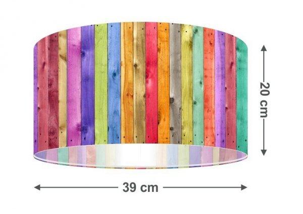 Macodesign, lampa wisząca, kolorowy płotek