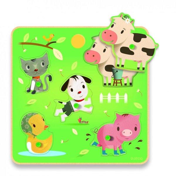 Djeco, puzzle dla Maluchów, Farma