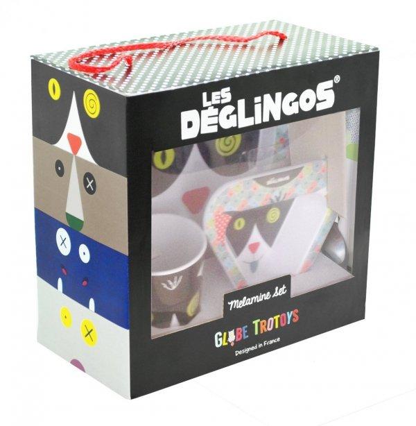 Les Deglingos, zestaw naczyń z melaminy, Kot