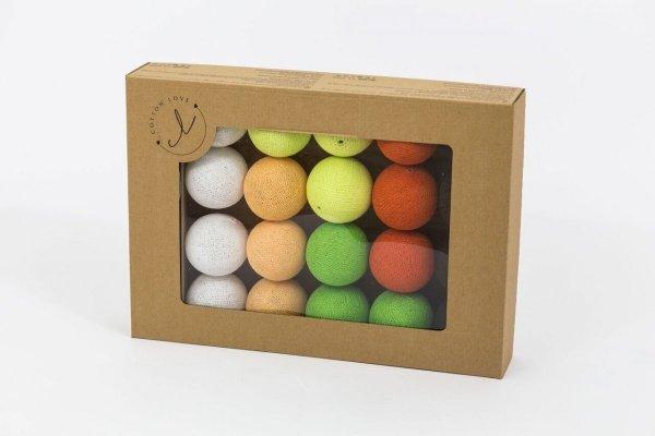 cotton balls orange tree