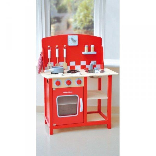 Indigo Jamm, drewniana kuchnia, czerwona