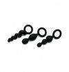 Satisfyer Plugs Black - zestaw korków analnych (czarny)