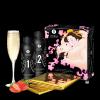Shunga Strawberry & Champagne Massage Gel 2 x 250 ml - żel do masażu intymnego (musujące wino truskawkowe)