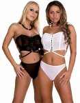 Bustier and Brief White L