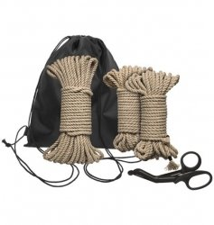 Kink by Doc Johnson Bind & Tie Initiation Kit 5 Piece Hemp Rope
