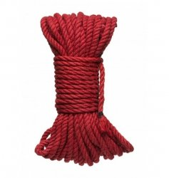 Kink by Doc Johnson Hogtied Bind & Tie 6mm Red Hemp Bondage Rope 50 Feet