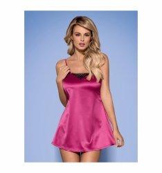 Obsessive Satinia babydoll różowe L/XL
