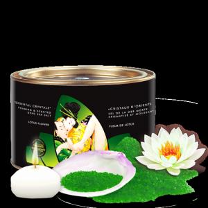 Shunga Lotus Flower Organic Oriental Crystals 600 g - sól do kąpieli z morza martwego (kwiat lotosu)