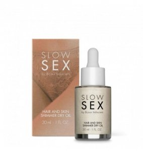 Bijoux Indiscrets Slow Sex Hair and Skin Shimmer Dry Oil - olejek do włosów i skóry