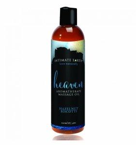 Intimate Earth Heaven Massage Oil 120 ml - olejek do masażu (orzech laskowy i  biszkopt)