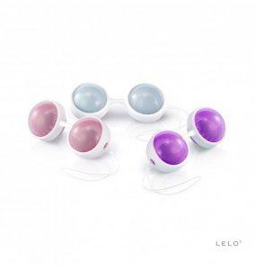 Kulki gejszy Lelo - Beads Plus (jasnoróżowe/jasnoniebieskie/fioletowe)