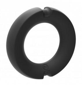 Kink Hybrid Silicone Covered Metal Cock Ring 35mm -  pierścień erekcyjny