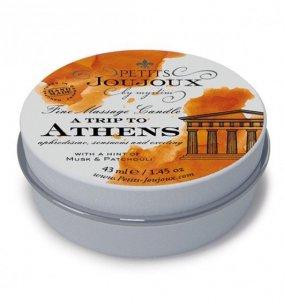 Petits Joujoux Fine Massage Candles A trip to Athens (33 g) - świeca do masażu (piżmo i paczula)